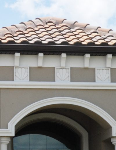 1920-Residential - 01 Multi 30, Vintage-St Andrews w corbel, plaque, trim, arch